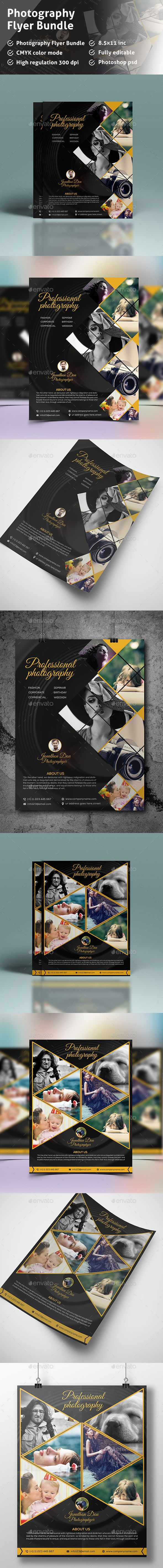 Photography Flyer Templates PSD Bundle