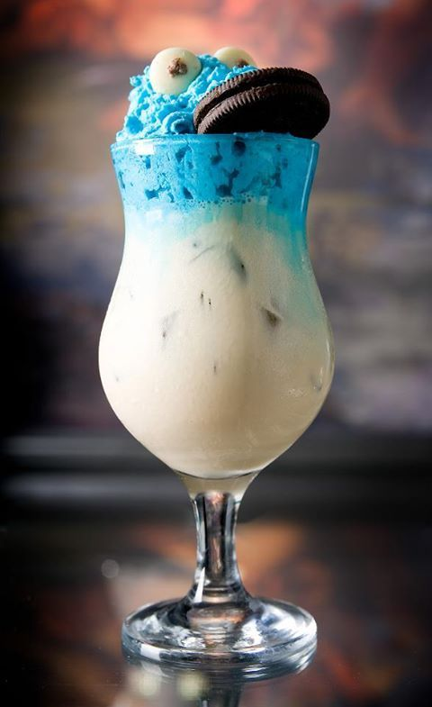 cookie monster cocktail | #diy #cookiemonster #cocktail #summer
