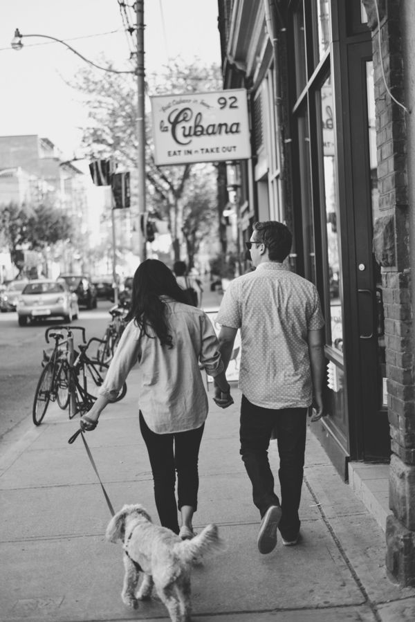 """Toronto photographer, Alixandra Gould shares Nadine & Adam's engagement session. """"I love it when couple's decide to so their engagement session in their own neighbourhood, and…"""