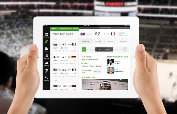 Iihf 2013 ipad version via http://dribbble.com/shots/1196407-IIHF-2013-iPad?list=tags=app