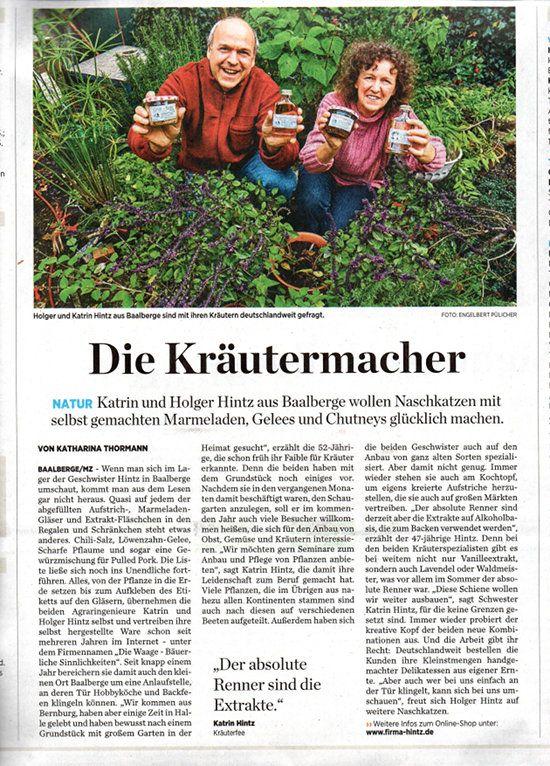 Quelle: ;Miteldeutsche Zeitung 16. Oktober 2017    Natürlich war inzwischen der Zeitungs-Artikel über uns in der Mitteldeutschen Zeitung ....