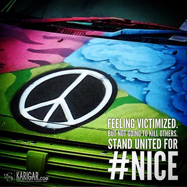 Feeling victimized. But not going to kill others. Stand United for #Nice. Educate the misguided by believing in real freedom - the freedom to live.  #prayfornice #willnotgiveup