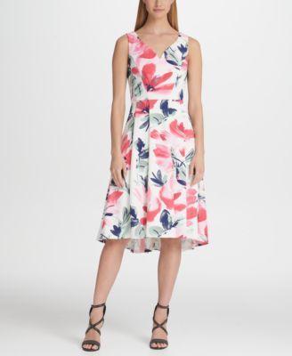 ad30d636e8f Floral Sweatheart Neck Midi Dress in 2019