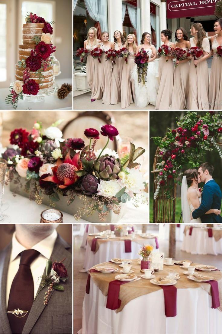 Bézs és bordó | Esküvői színek 2017 - 15 trendi színkombinációt mutatunk a tökéletes dekorációhoz. Inspirálódj velünk!