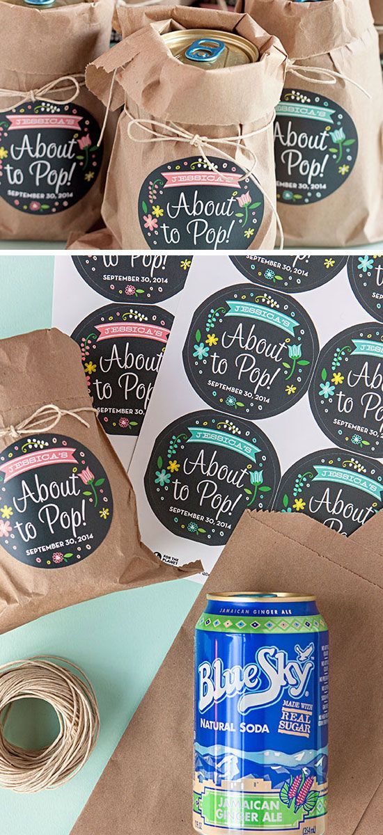 About to Pop Soda Favors | 21 DIY Baby Shower Party Ideas for Boys that will make you go goo goo!