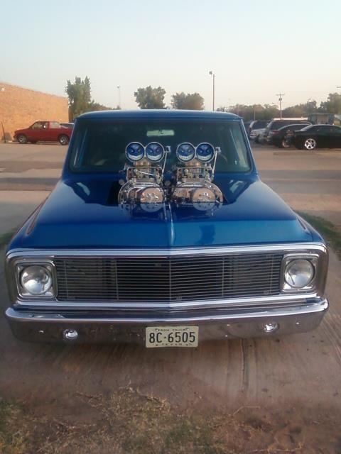 Trucks With Blowers : Twin blowers chevy c gmc trucks