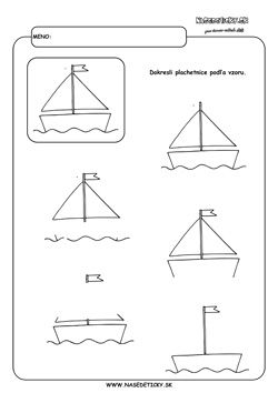 Dokresľujeme plachetnice. - Aktivity pre deti, pracovné listy, online testy a…