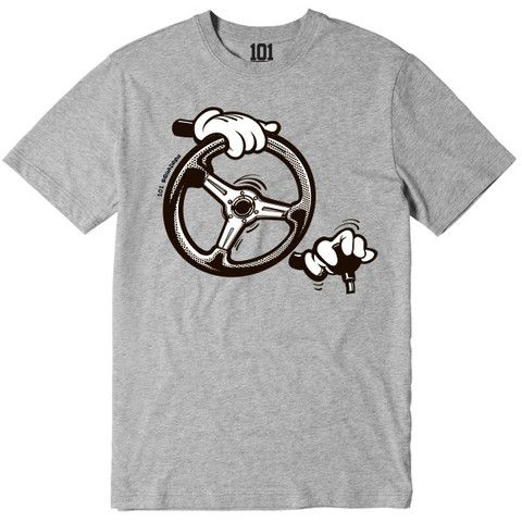 DOWNSHIFTING CARTOON HANDS SHIRT - GREY | 101-squadron