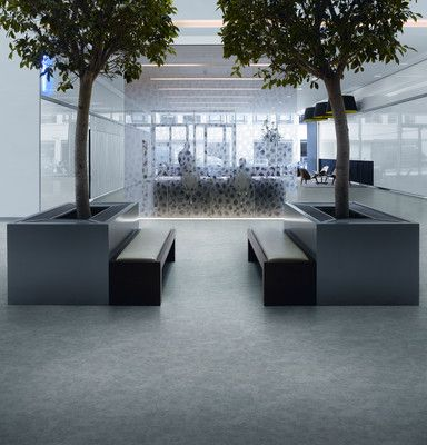 Modern office reception area with Expona Commercial Exposed