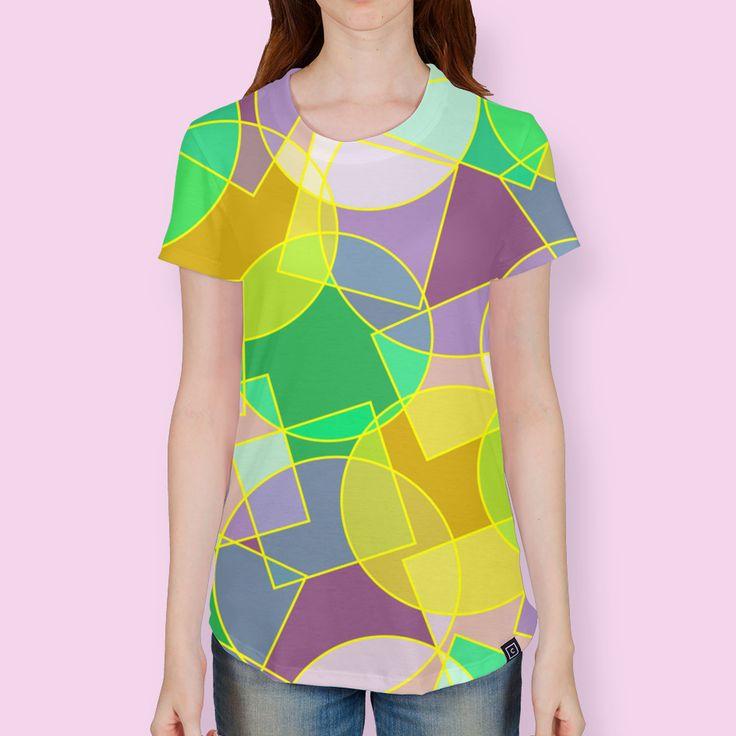 All Over Print T-Shirt by Natalia Bykova on Curioos. #abstract, #geometric, #pattern, #geometricpattern, #Curioos, #tshirt