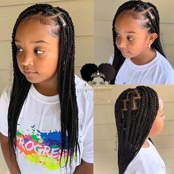 Knotless Braids For Kids In 2020 Kids Hairstyles Girls