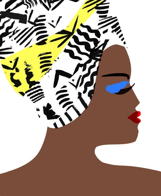 #fashion #illustration Head Dress