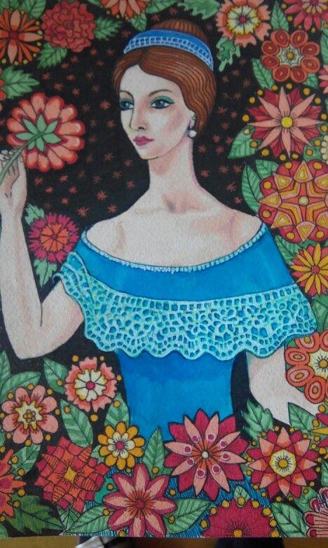 Tusj og akryl på A4 akvarell papir