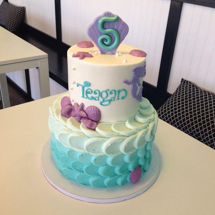 Baby Blue Mermaid Cake Topper & Cupcakes » Celebration Cakes