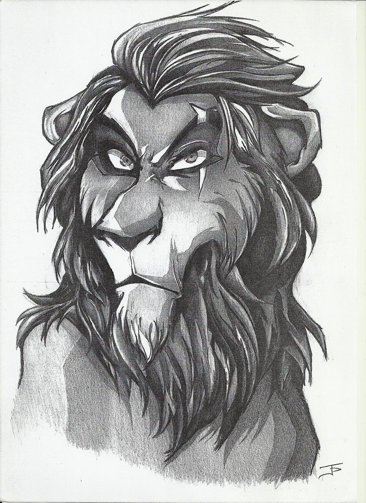 Scar Lion King - pencil sketch by John Papadogeorgos