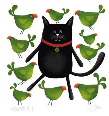 The Green Party...the Kakapo take revenge... Red Ink Design