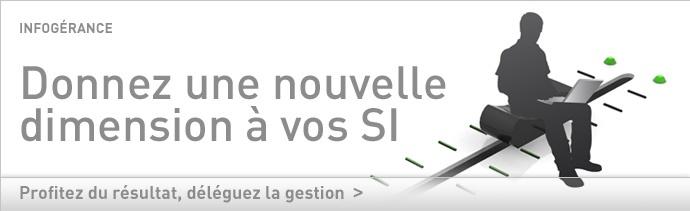 A la flexibilité que réclame le système d'information répond la flexibilité de l'infogérance telle que Bull la conçoit et la met en œuvre. A chaque étape de la prestation, le client élabore, avec Bull, une solution personnalisée, parfaitement adaptée à ses besoins, tout en bénéficiant d'une structure mutualisée et industrielle.     Avec son réseau de data centers à l'état de l'art, en France et à l'international, Bull ... Pour en savoir plus: www.bull.fr