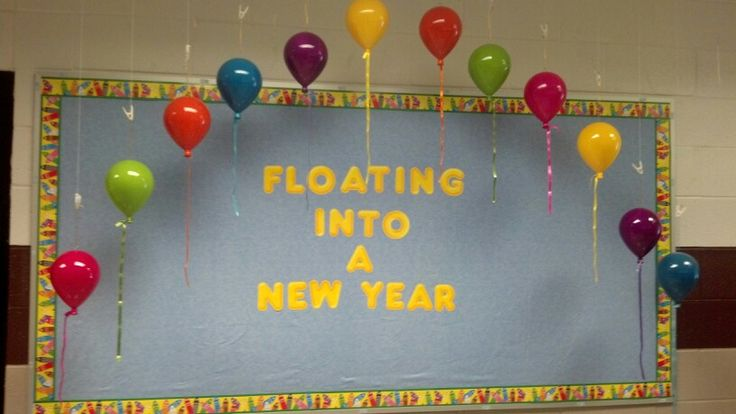Back to school bulletin board, could also use this for a January board