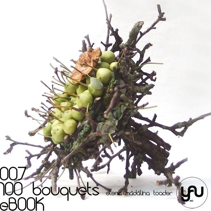 PERE si CIUPERCI | #100bouquets 007 Ziua 7 din #100bouquets, powered by YaU ... cu ceva special PERE & CIUPERCI :) ! Un buchet mai altfel cu o structura din crengute de par (in special perii au o textura aparte a scoartei, cu tente de gri si verde ... ), iar in loc de flori am folosit pere salbatice pentru baza buchetului si un accent cu ciuperci. Este un buchet experiment ... mi-as dori sa intalnesc o curajoasa care sa il poarte ... nu se ofileste usor :) ! #100bouquets, powered by YaU,...