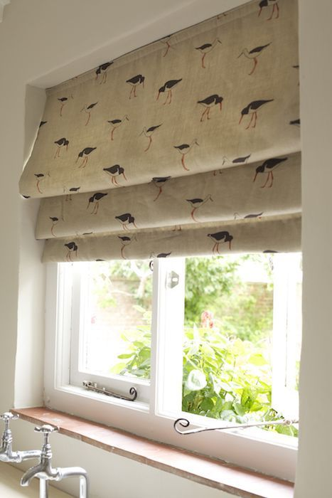 Oyster Catcher Fabric - Emily Bond #windowtreatments #blinds