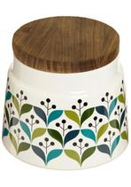 I've been looking for canisters to match my brown/green/blue colors. This is perfect!