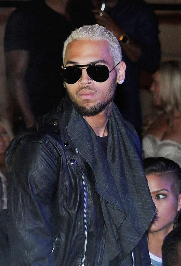 Blonde Hair Black beard. swerve lol! | Chris Brown ...