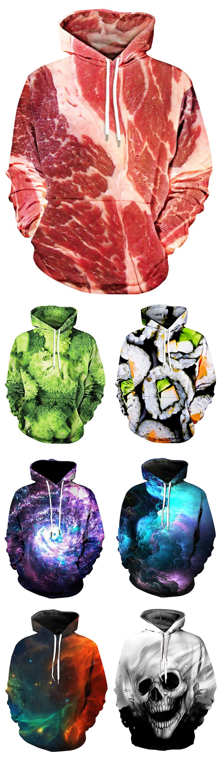 Up to 50% off + Free Shipping | 2018 New Arrivals | Men's 3D Print Hoodies | #menswear #mensfashion #hoodie