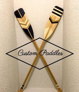 Custom Painted Canoe Paddle Decorative Cottage by ThisNThatTO