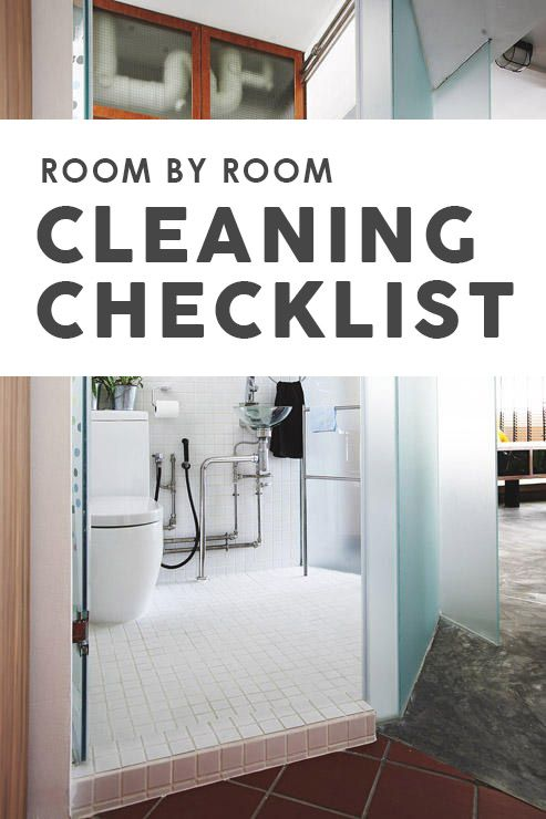 This new year, get your house clean and tidy with this room-by-room cleaning checklist!