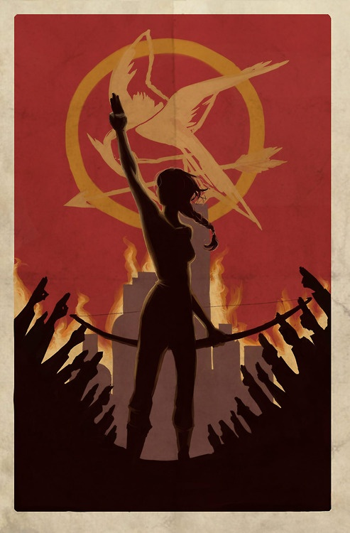 hunger games; catching fire; mockingjay