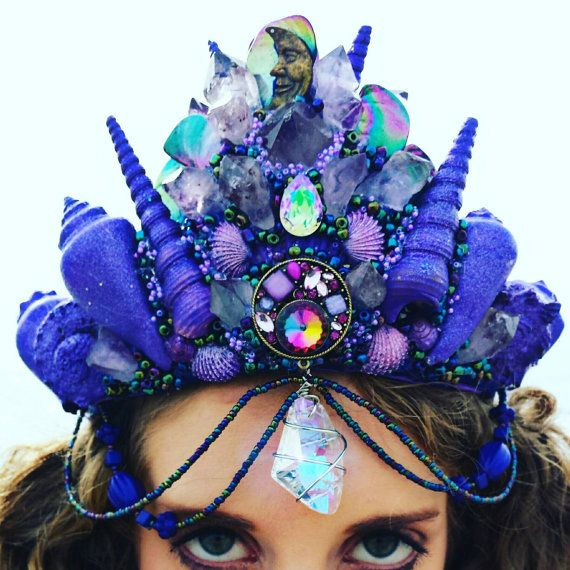 Check out this item in my Etsy shop https://www.etsy.com/listing/490010308/mermaid-amethyst-crystal-crown-purple