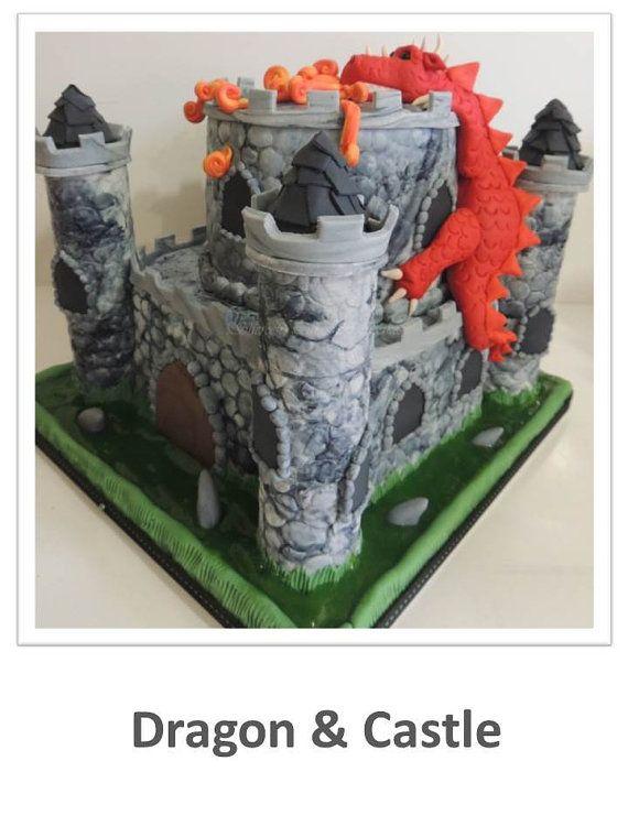 Dragon & Castle Cake PDF Tutorial by ShereensCakesandBake on Etsy