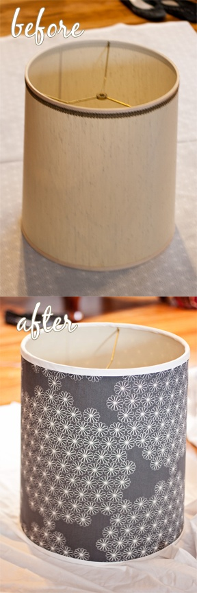 lampshade redo. I need to do this for my floor lamp!