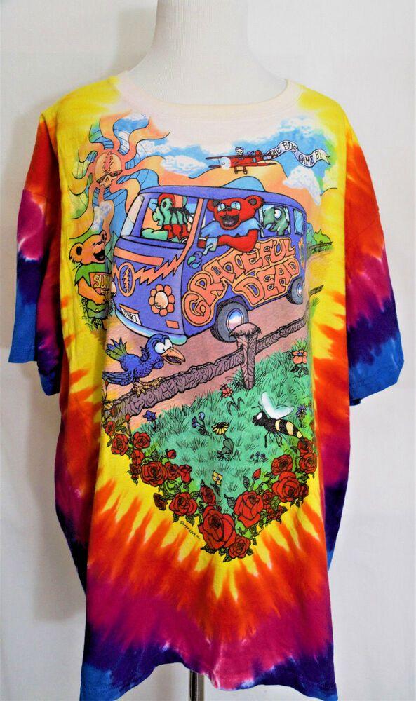 "76d4f0e5a143 Vintage 1994 Liquid Blue Grateful Dead ""The Bus Came By"" T Shirt XL  #LiquidBlue"