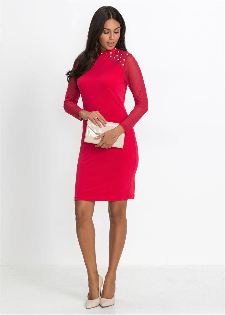 Kleid mit Perlen schwarz jetzt im Online Shop von bonprix.de ab ? 34,99 bestellen. Modisches Kleid mit toller Perlen-Applikation und kleinem Stehkragen. Im ...