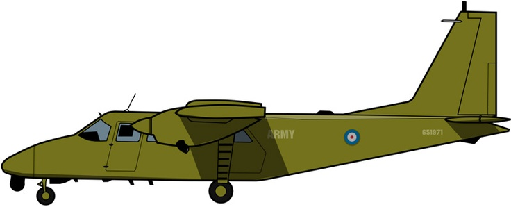 Britten Norman Defender del Cuerpo Aéreo del Ejército Británico, Irlanda del Norte, 1990