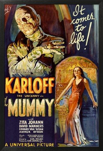 The Mummy Movie Boris Karloff, It Comes to Life Poster Print Posters na AllPosters.com.br