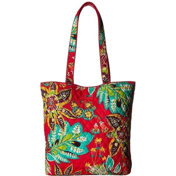 Vera Bradley Tote (Rumba) Tote Handbags ($49) ❤ liked on Polyvore featuring bags, handbags, tote bags, white handbags, tote handbags, vera bradley handbags, quilted totes and quilted purses