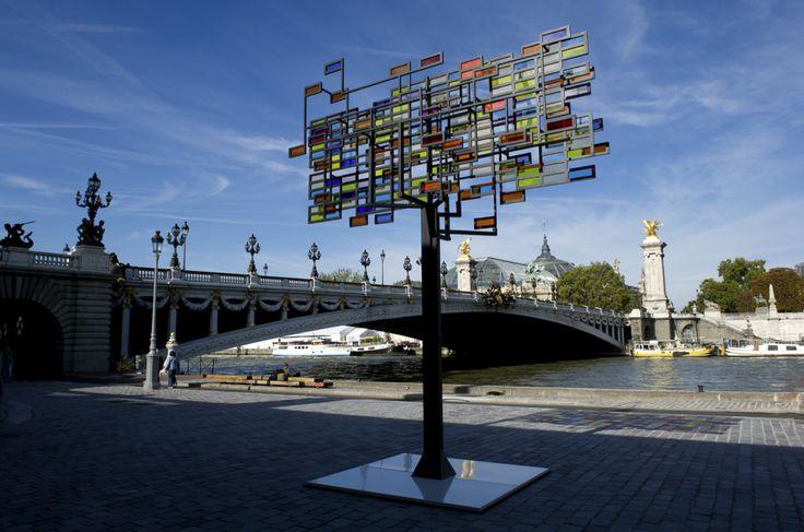 [COUP D'OEIL] Berges de Seine / Installation / Philippe Rahm / Rémanence Chlorophylienne, 2011-2013  Quand l'arbre rejaillît au prisme du printemps