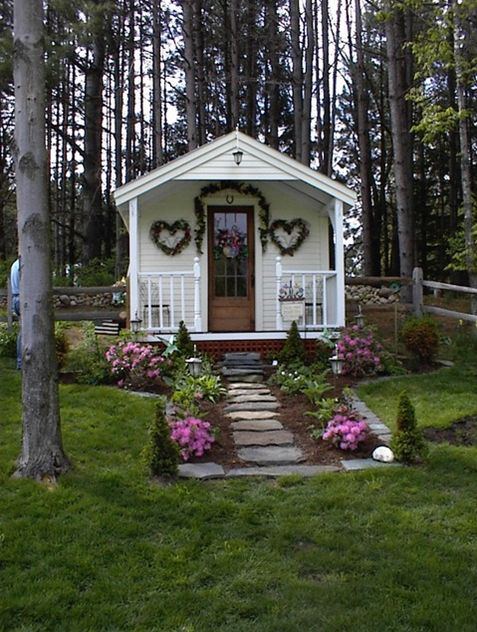 This 10'x16' prefab cottage by JamaicaCottages.com is just one of many models that can be delivered to your site to serve as a home office, guest quarters, workshop, playroom or whatever kind of hangout you desire.