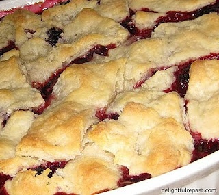 Old Fashioned Blackberry Cobbler with No-Roll Pie Crust/ awesome, increase filling x 1.5