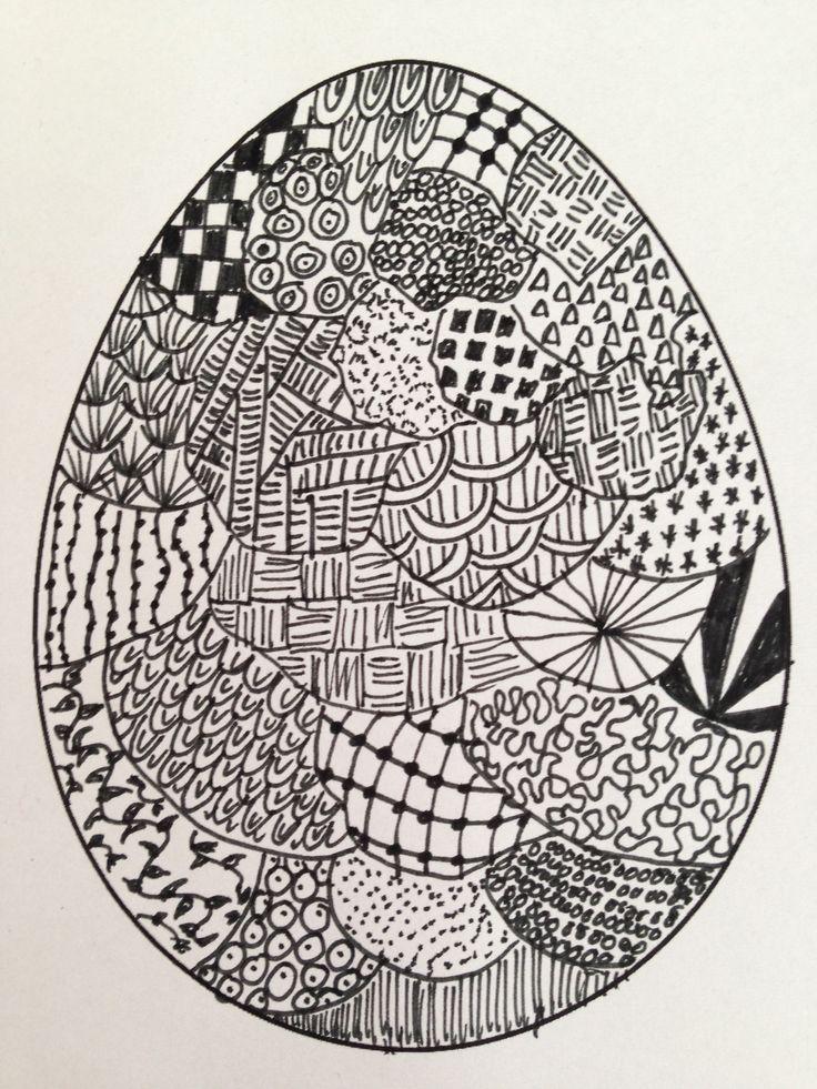 Patricia heeft deze Eitangle gemaakt als voorbeeld voor haar klas van groep 6/7. Ieder kind heeft een 'leeg ei' gekregen en ze hebben er echt van genoten om dit te maken!