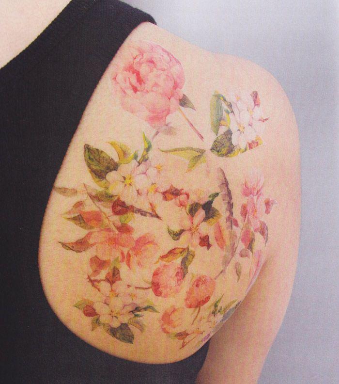 DIY Wallflower Temporary Tattoo   Poppytalk