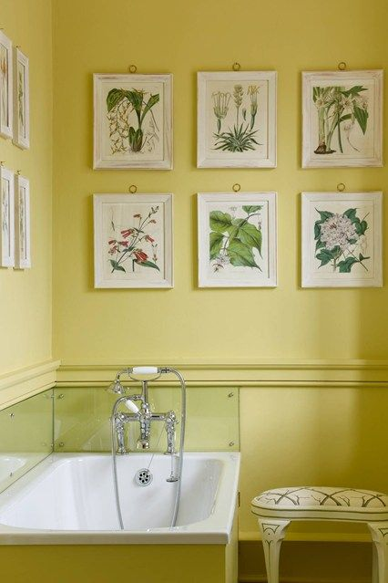 539 best paint colors images on pinterest for Bathroom yellow paint