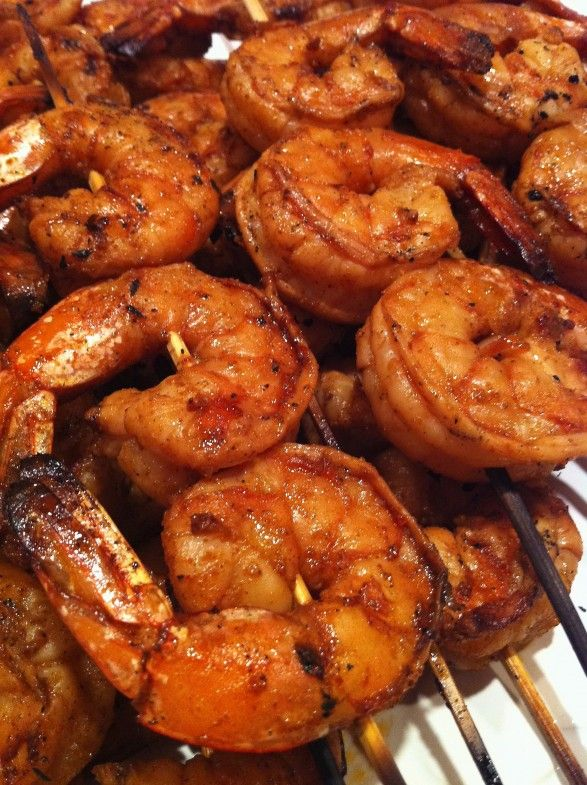 """Twisted Cajun Grilled Shrimp. The list of ingredients for the marinade might seem odd, but the shrimp turned out great and full of good flavors. I used my own cajun rub for the """"cajun seasonings."""""""
