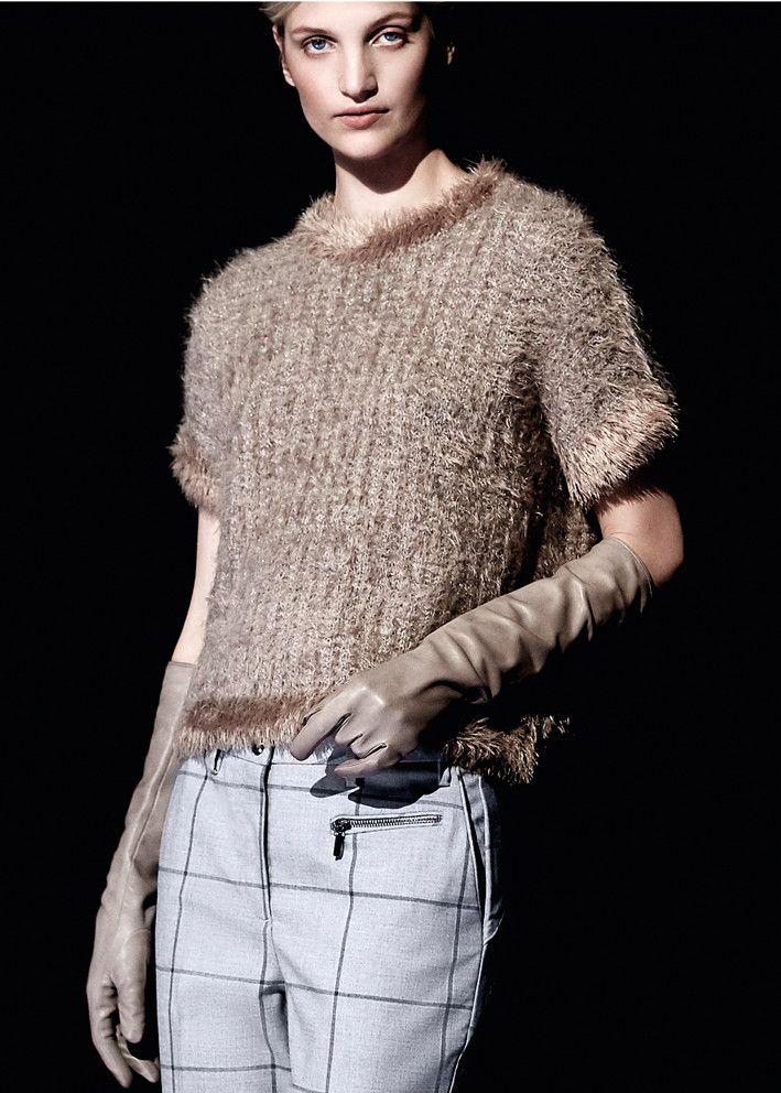 Gustav Sweater gråbrun 20405 Boxy Knit - 9245 wood smoke – Acorns
