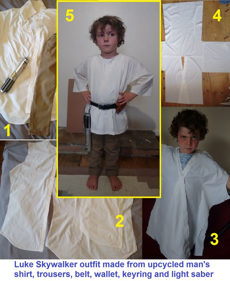 Luke Skywalker DIY costume tutorial