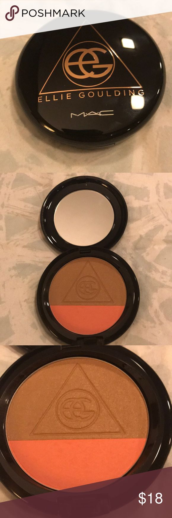 Ellie Goulding for MAC bronzer blush combo Ellie Goulding for MAC bronzer blush combo. Used one time- basically new without box! See pictures for condition! MAC Cosmetics Makeup Blush