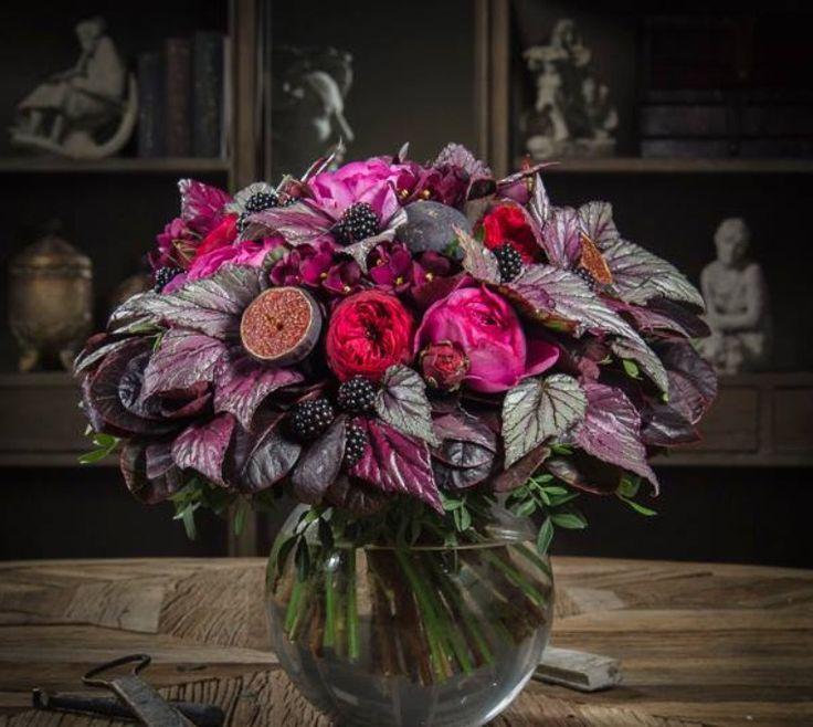 Deep colorful bouquet