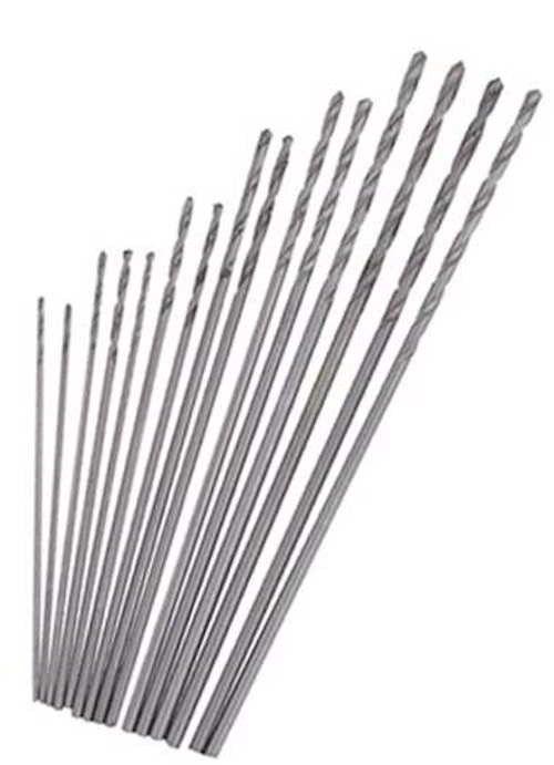 Mini Drill 15Pc Set High Speed Steel Twist Drills Bits Dremel Jobber Bit Hobby